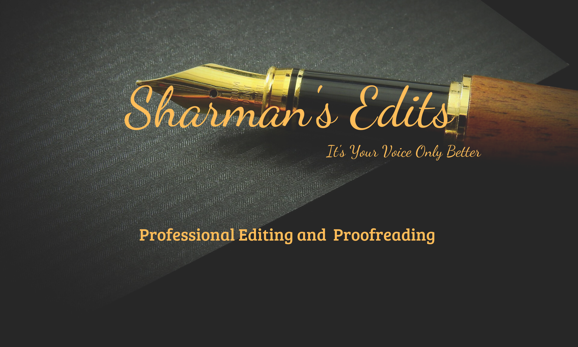 Sharman's Edits: It's Your Voice Only Better!